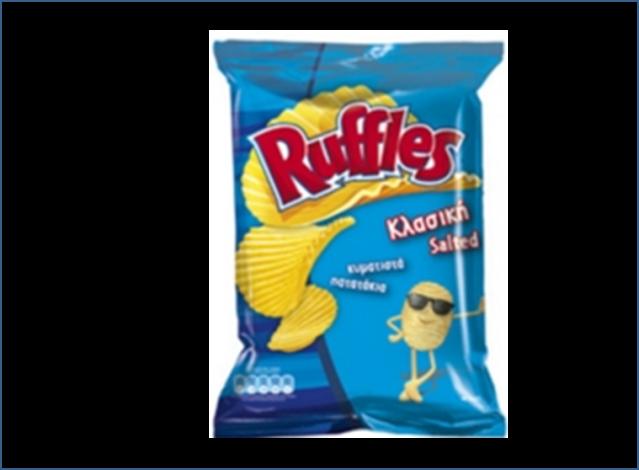 Πατατάκια με αλάτι Ruffles