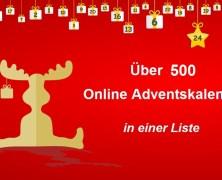 500 Online Adventskalender Liste!