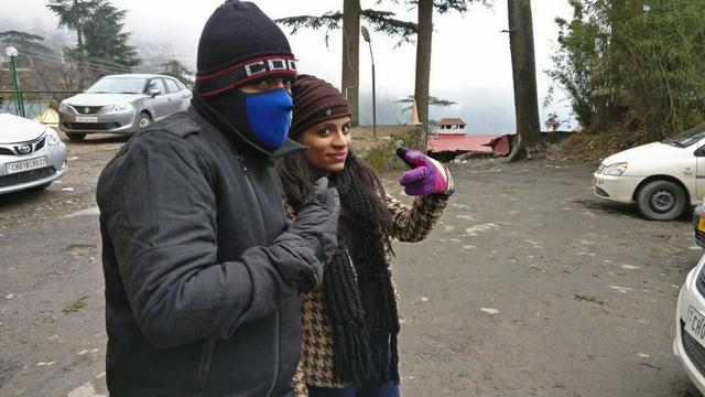 Outside the Hotel in Shimla