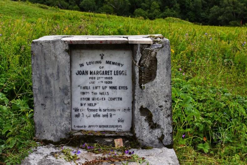 Joan Margaret Legge's memorial grave