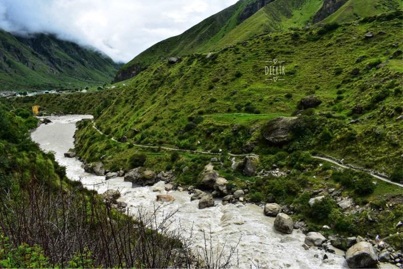 Alaknanda River, Mana Village