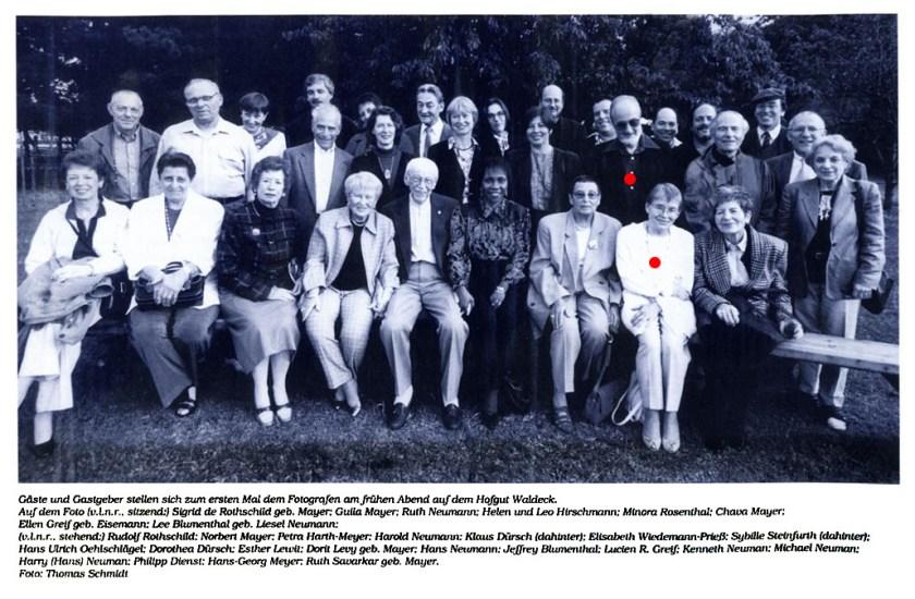 Ellen und Lucien Greif während ihres Besuchs in Ingelheim 1998