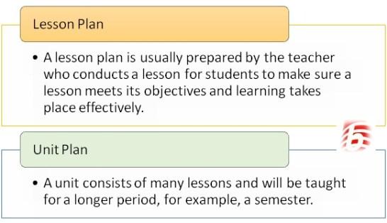 Key Difference - Unit Plan vs Lesson Plan