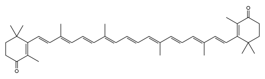 Compare Canthaxanthin and Astaxanthin