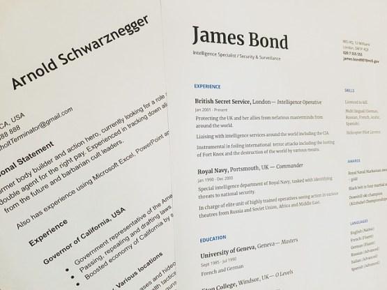 Portfolio vs Resume in Tabular Form