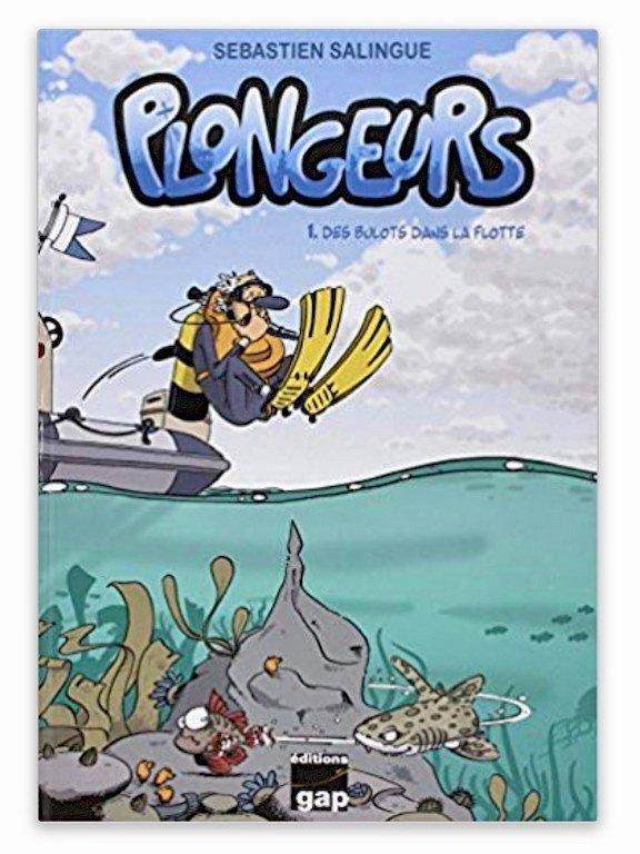 La BD Plongeurs, un des cadeaux plongée apprécié par les petits et les grands