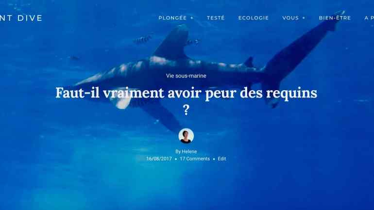 Un requin dans l'océan en Polynésie