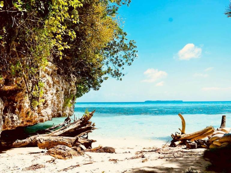 Un paysage de plage en Micronésie