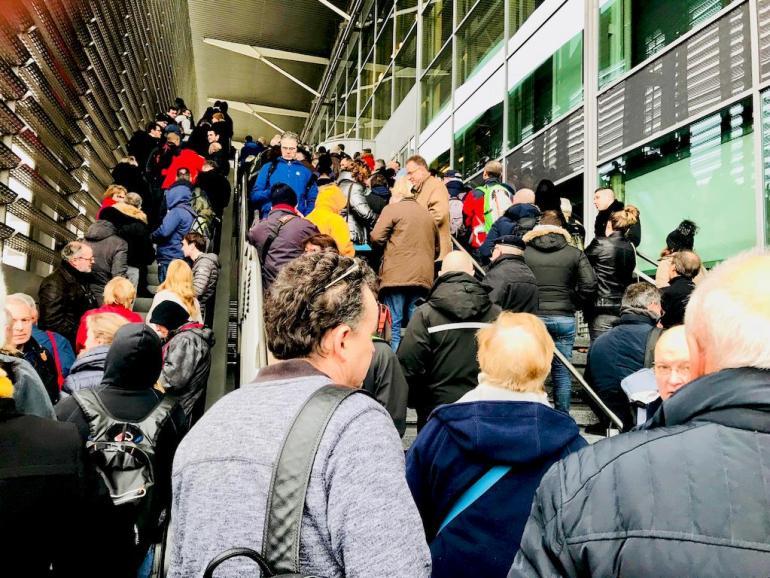 La foule pour rentrer au salon de la Plongée de Paris en 2018