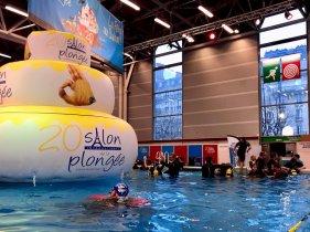 La piscine du salon de la plongée de Paris 2018