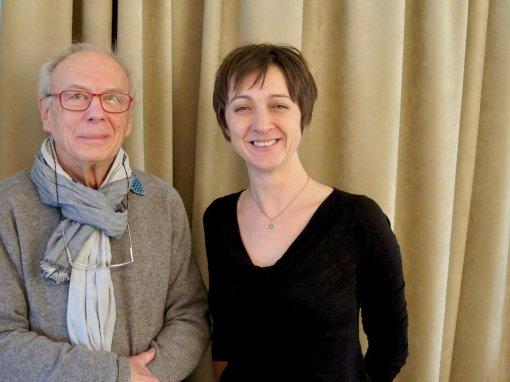 Marc Jasinski et Hélène Adam se font photographier ensemble