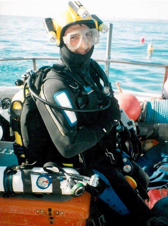 Martin Parker se prépare à plonger