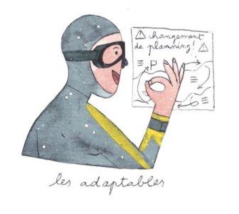 Illustration de Sara Quod représentant un plongeur de profil adaptable