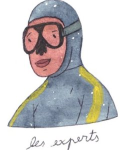 Illustration de Sara Quod représentant un plongeur de profil expert