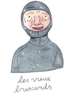 Illustration de Sara Quod représentant un plongeur de profil Vieux-briscard
