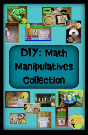 homemade learning manipulatives