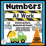 differentiated number road math mats