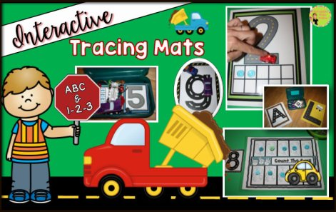 Letter and Number Tracing Mats