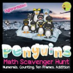 ten frames counting penguin