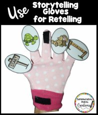 Storytelling gloves are extremely useful for retelling a story and identifying story elements.