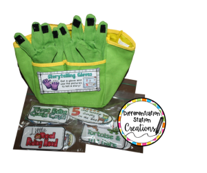 Get creative when storing your storytelling gloves! Use a gardening bag to store all your supplies.