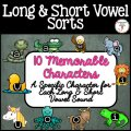 Long and short vowel activities. Word sorts and flip books for long and short vowels.