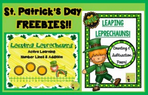Free leprechaun learning activities. Hands on learning fun to make math time magical around St. Patrick's Day. Free hands-on learning fun!