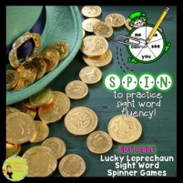 St. Patrick's Day sight word fluency games. Editable games to practice sight word fluency.