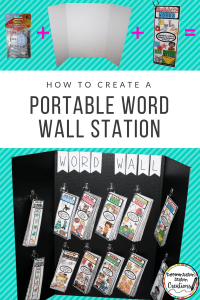 How to create a portable word wall station for your classroom! Create a station in less than 5 minutes- quick and easy.