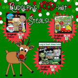 Christmas in July deals for teachers! Rudolphredhot