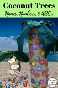 Great Chicka Chicka Boom Boom activities and crafts. Check out the DIY magnetic coconut