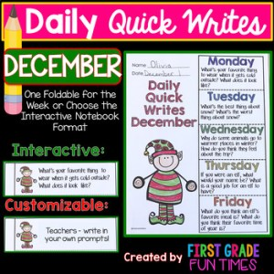 Daily Quick Writes for December