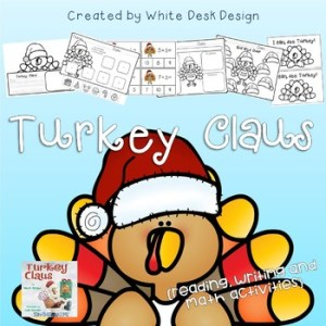 Turkey Claus learning activities.