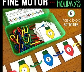 Winter holiday fine motor boxes.