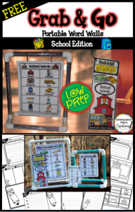 Free school words. Try portable word walls to interact with thematic words with school.