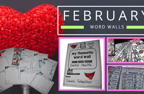 February Word Walls + Freebie