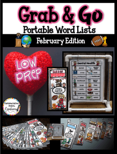 February word walls and word lists