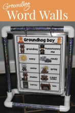 february word walls groundhog