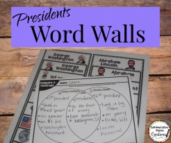 February word walls presidents