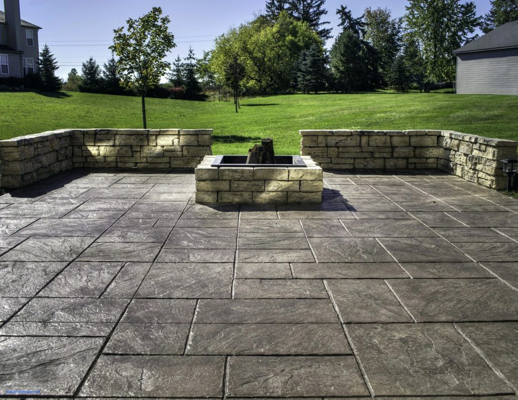 Amazing Backyard Stamped Concrete Patio Ideas on Backyard Concrete Patio Designs  id=74362