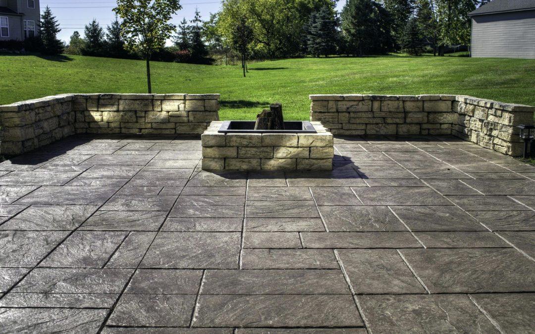 Amazing Backyard Stamped Concrete Patio Ideas on Simple Concrete Patio Designs id=82385