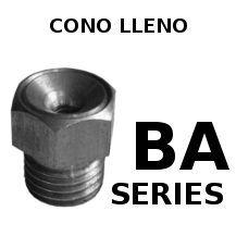 Boquillas de Aspersión Cono Lleno BA-SERIES.