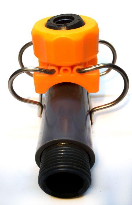Collarín con bola roscada para boquillas de aspersión. Instalar fácil Difusores de Agua.