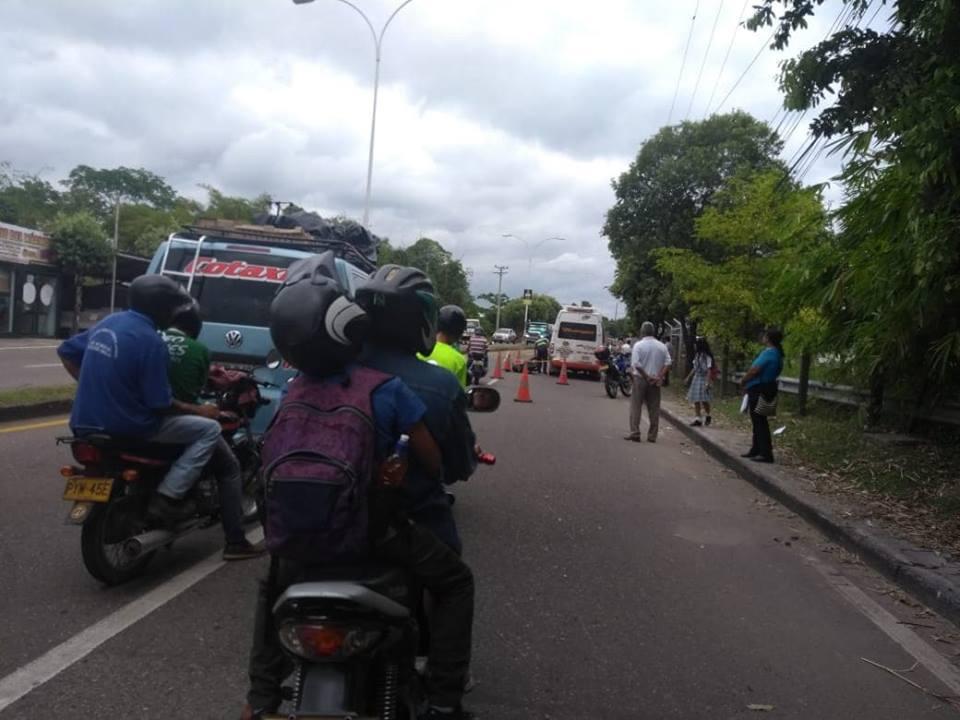 Aparatoso accidente deja dos personas heridas en Barrancabermeja