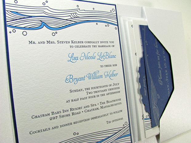 Foxy Beach Themed Wedding Invitation Affordable Theme