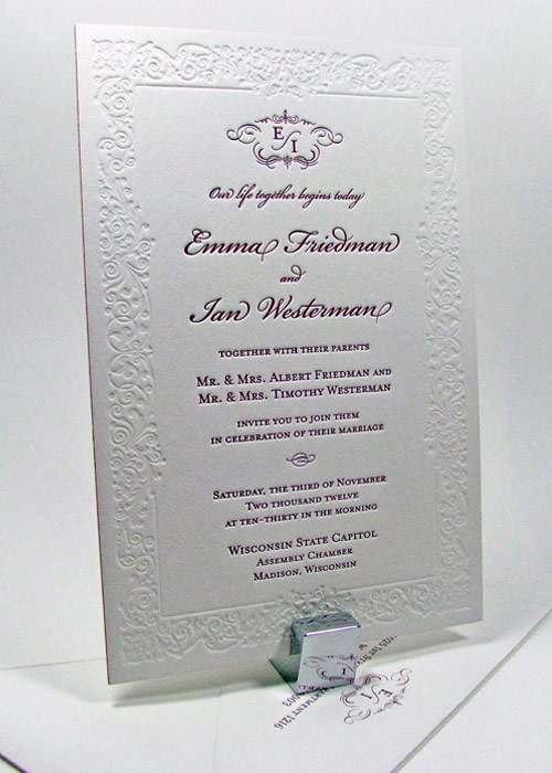 Custom Printing Invitation Wedding