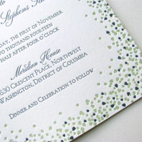 Linden Leaves Wedding Invitations