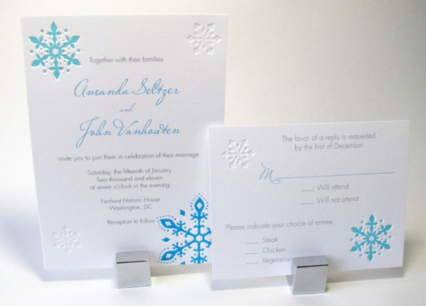 Snowflakes Wedding Invitation Digby Amp Rose Digby