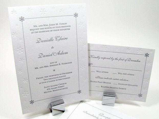 Customized Winter Wedding Invitations Digby Amp Rose