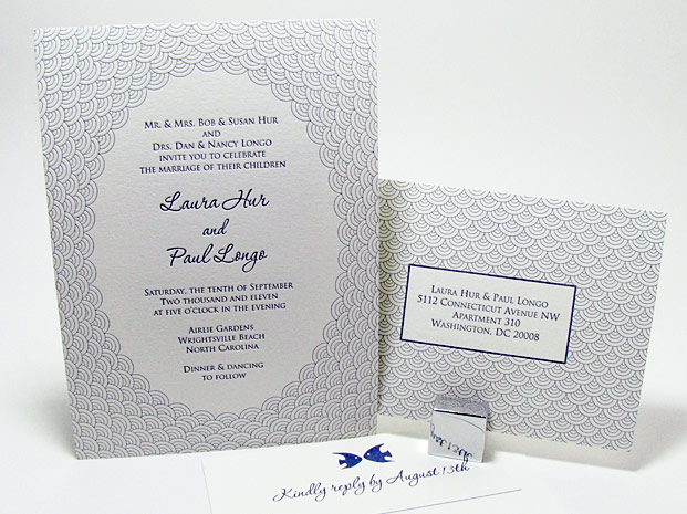 Fish Scales Beach Wedding Invitations